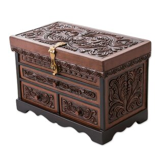 Compare Paradise Memories Leather and Cedar Wood Jewelry Box ByBloomsbury Market