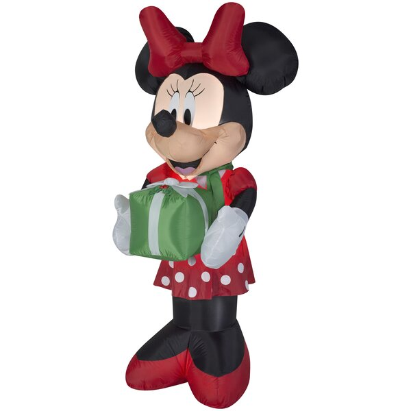 Minnie with Scarf and Presents Christmas Oversized Figurine by The Holiday Aisle