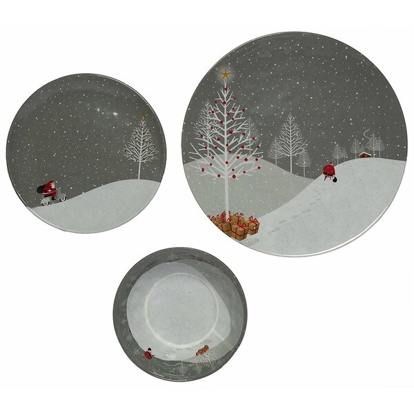 Santa Comes Home 36 Piece Dinnerware Set, Service for 12 (Set of 12) by The Holiday Aisle