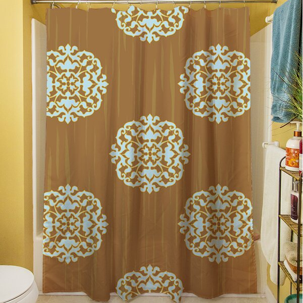 Bold in Blue Medallion Shower Curtain by Manual Woodworkers & Weavers