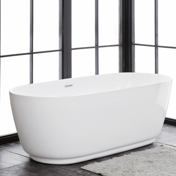 Concetto 66 x 30 Freestanding Soaking Bathtub by Finesse