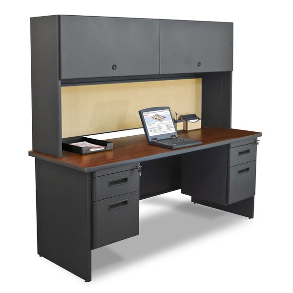 Pronto Computer Desk with Hutch by Marvel Office Furniture