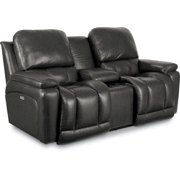 Greyson Leather Power Reclining Loveseat by La-Z-Boy