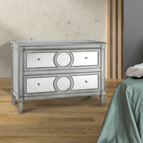 Simms 2 Drawer Nightstand by Rosdorf Park
