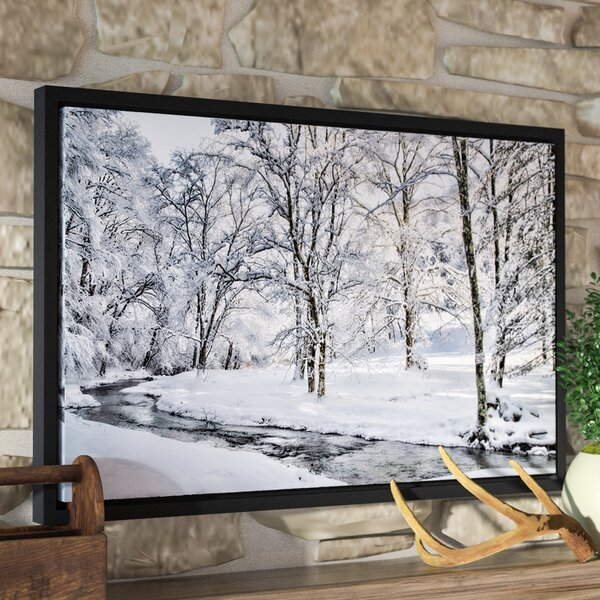 The Creek Still Flows Framed Photographic Print on Wrapped Canvas by Loon Peak