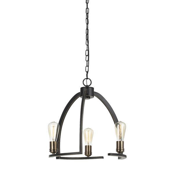 Jayce 3 - Light Candle Style Geometric Chandelier By Millwood Pines