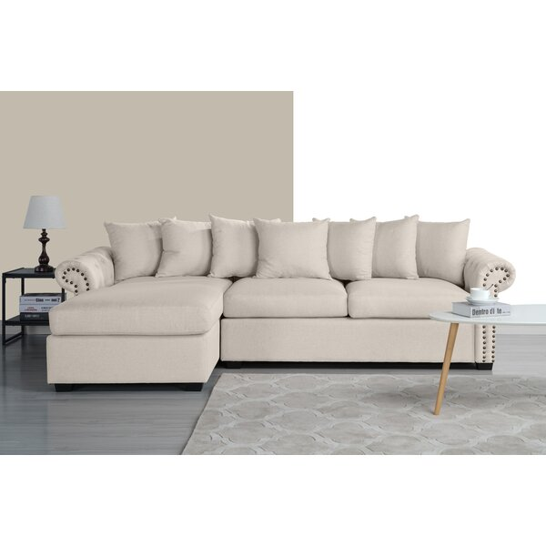 Safira Left Hand Facing Sectional by Charlton Home
