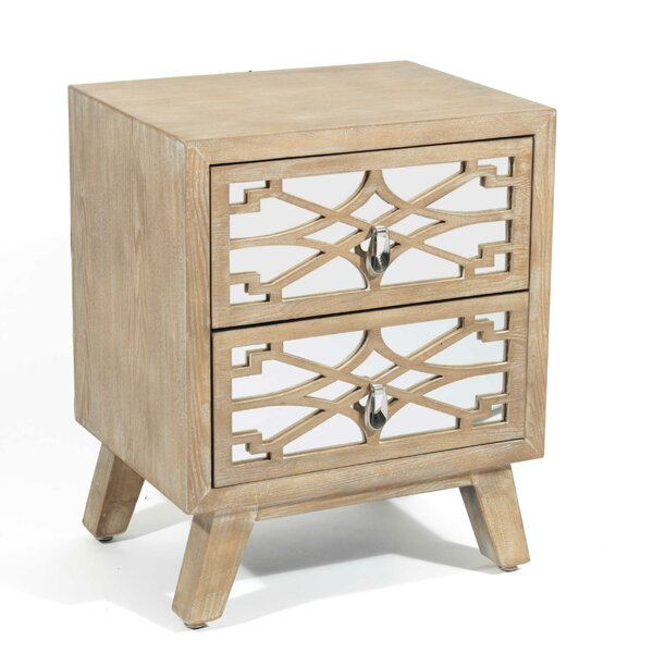 Yamada 2 Drawer Nightstand by Bungalow Rose