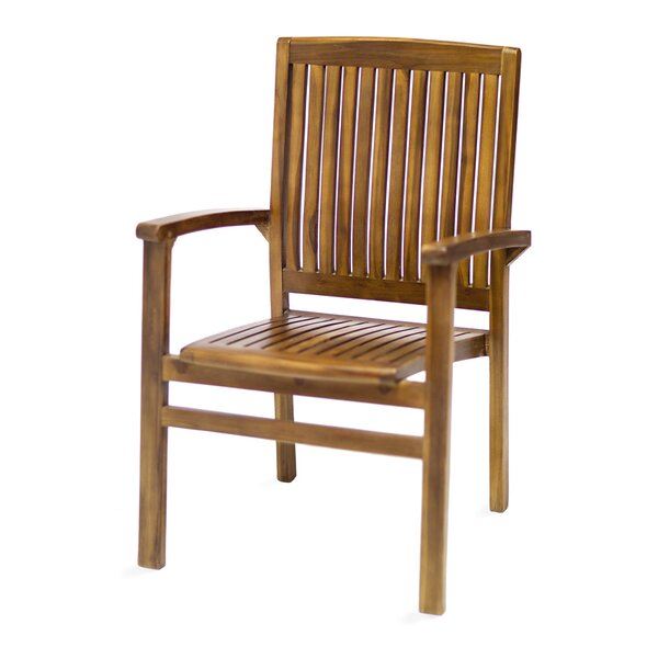 Stacking Teak Patio Dining Chair by All Things Cedar