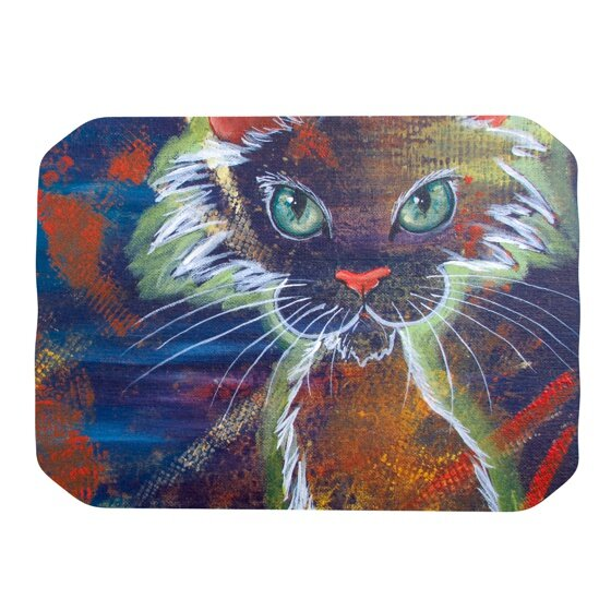 Rave Kitty Placemat by KESS InHouse