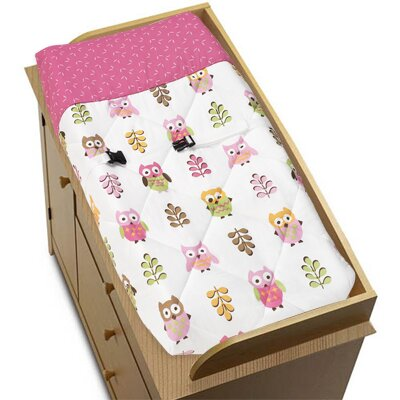 Happy Owl Changing Pad Cover by Sweet Jojo Designs