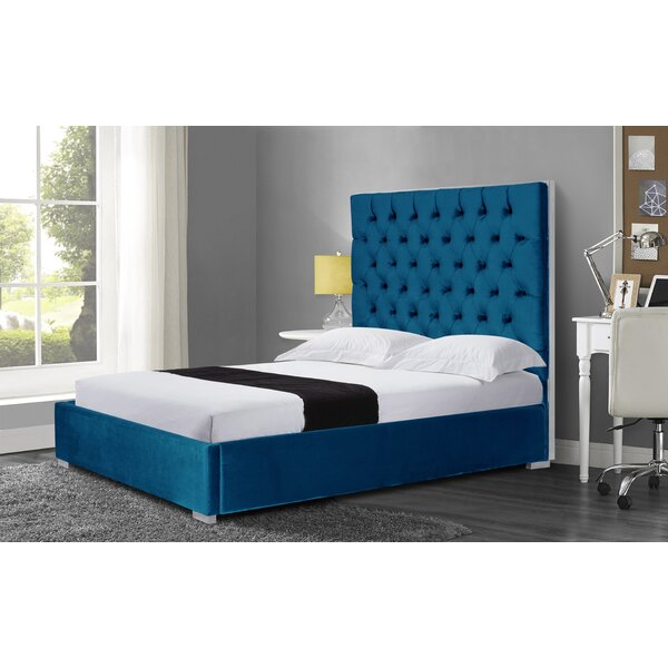 Wallis Velvet Queen Upholstered Platform Bed by Rosdorf Park