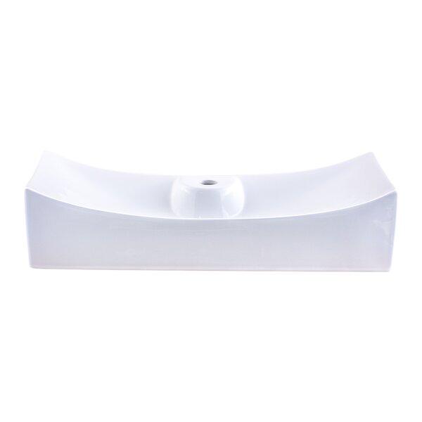 Ceramic Rectangular Vessel Bathroom Sink by Novatto