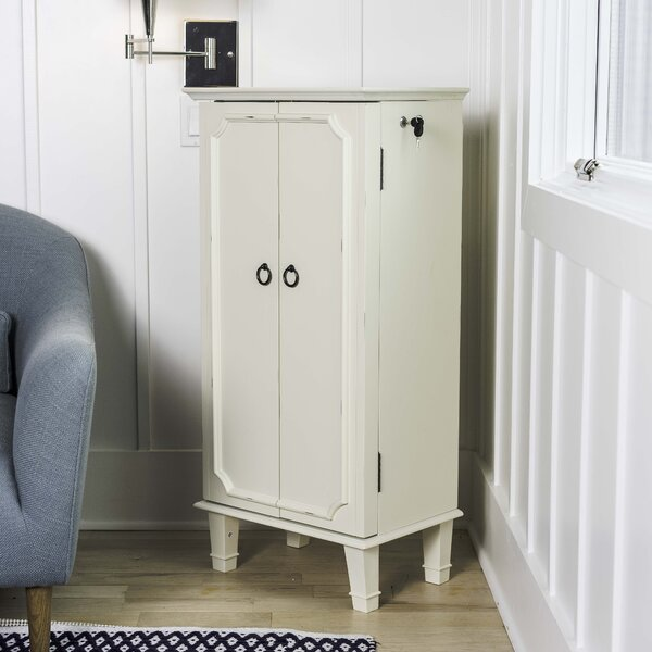 Tinsman Cabby Jewelry Armoire with Mirror by House of Hampton