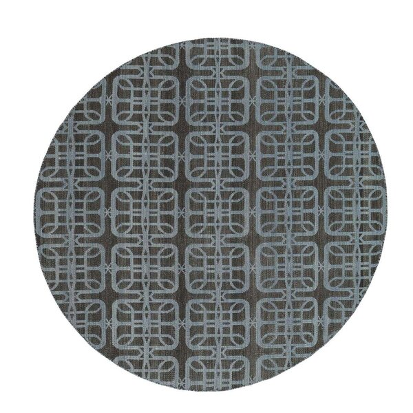 One-of-a-Kind Reversible Flat Weave Durie Kilim Hand-Knotted Black/Blue Area Rug by House of Hampton