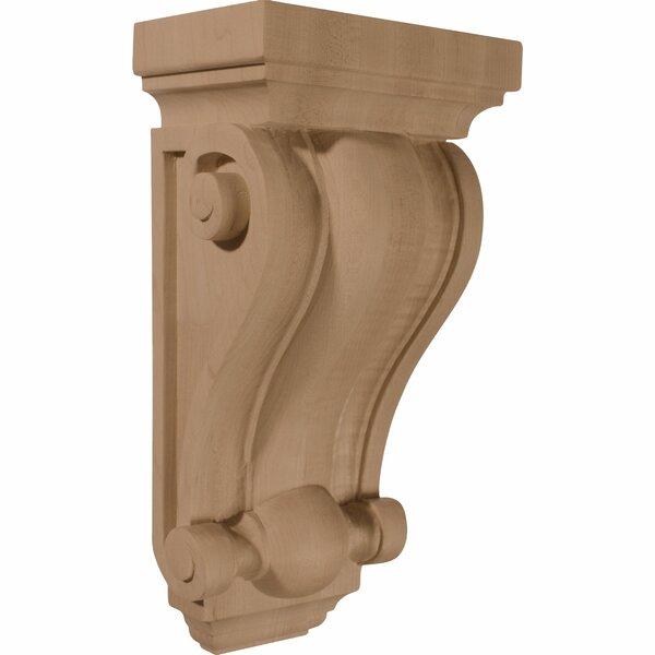 Cole 12H x 6 1/4W x 4D Pilaster Wood Corbel in Alder by Ekena Millwork
