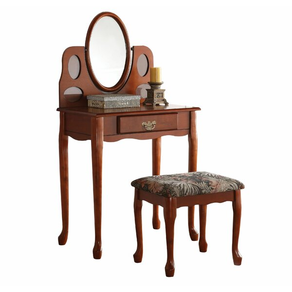 Yisroel Vanity Set with Mirror by Darby Home Co