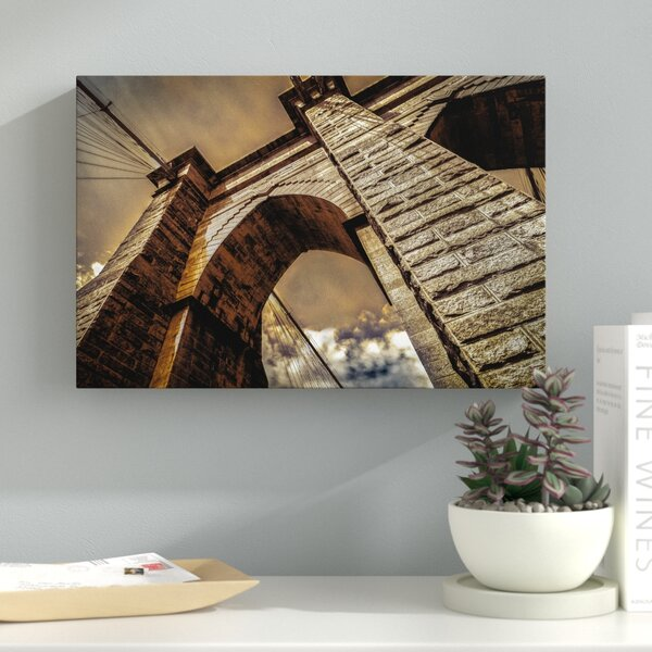 Brooklyn Bridge Photographic Print on Wrapped Canvas by Latitude Run