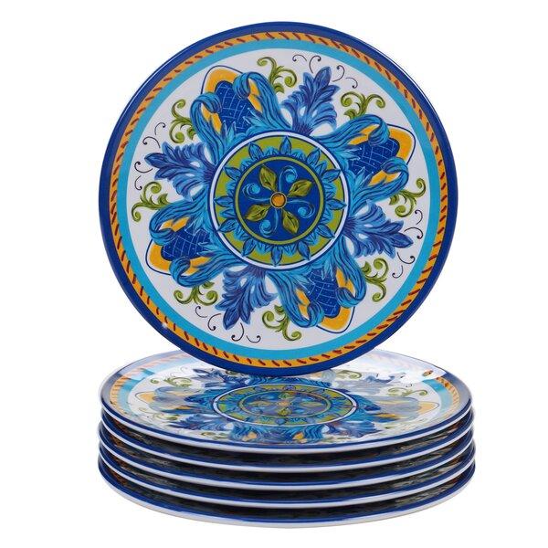 Filion Melamine Salad Plate (set Of 6) By Charlton Home.