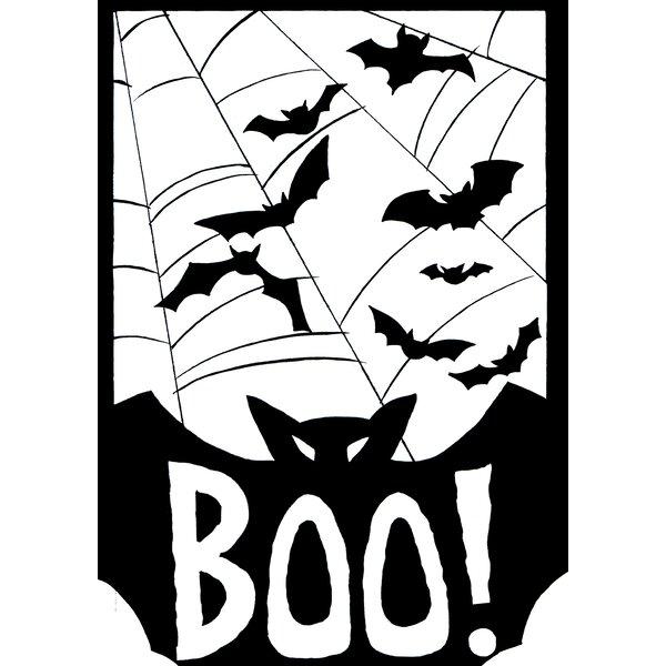 Boo! 2-Sided Garden flag by Toland Home Garden