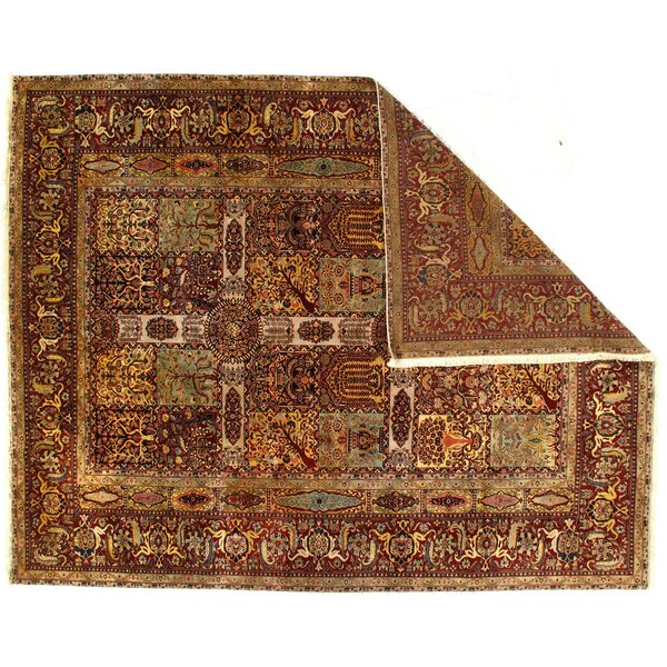 One-of-a-Kind Solal Hand-Knotted Brown 9'2 x 11'7 Wool Area Rug