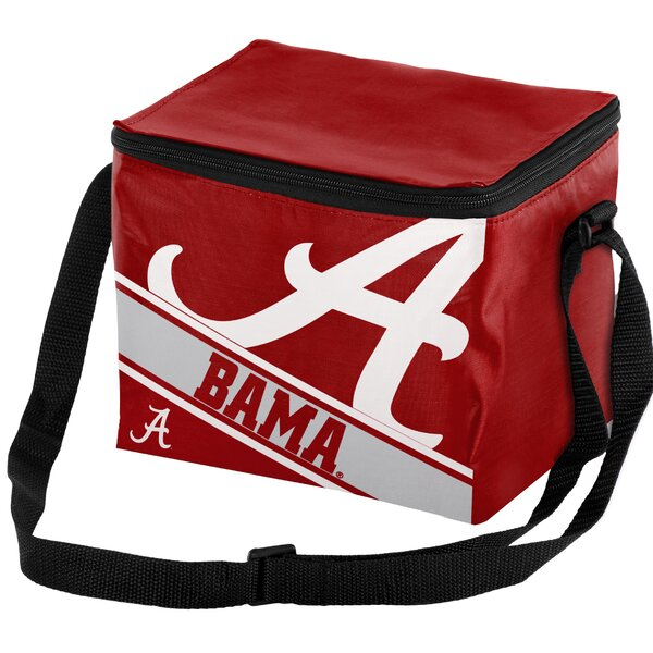 6 Can NCAA Big Logo Stripe Picnic Cooler by Forever Collectibles