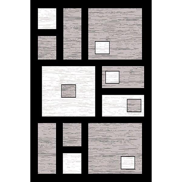 Costantino Gray/Black Area Rug by Ebern Designs