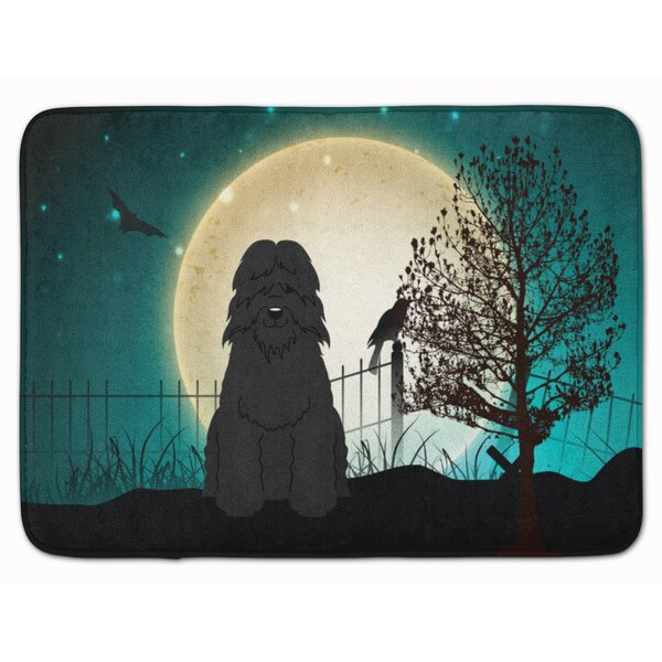 Testa Scary Bouvier des Flandres Memory Foam Bath Rug by The Holiday Aisle