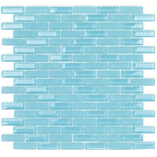 Contempo 0.6 x 2 Glass Mosaic Tile in Turquoise by Splashback Tile