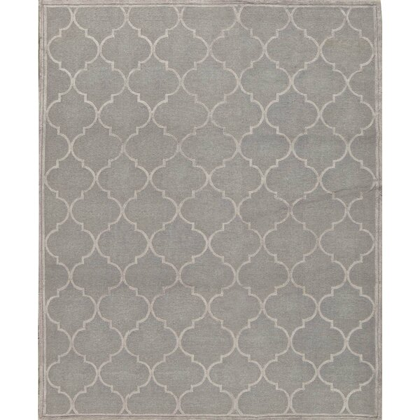 Hand-Knotted Cotton Gray Rug