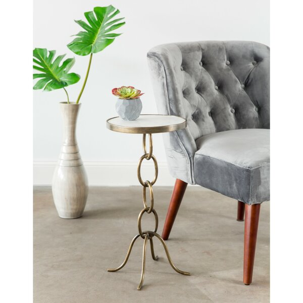 Lundin Stacked Chain End Table by Ivy Bronx