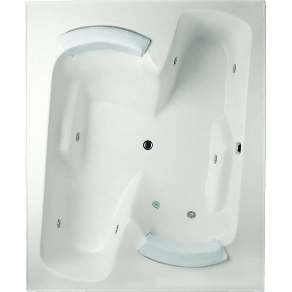 Designer Penthouse 72 x 60 Salon Spa Soaking Bathtub with Combo System by Hydro Systems