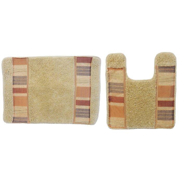 Anette 2 Piece Decorative Bath Rug Set
