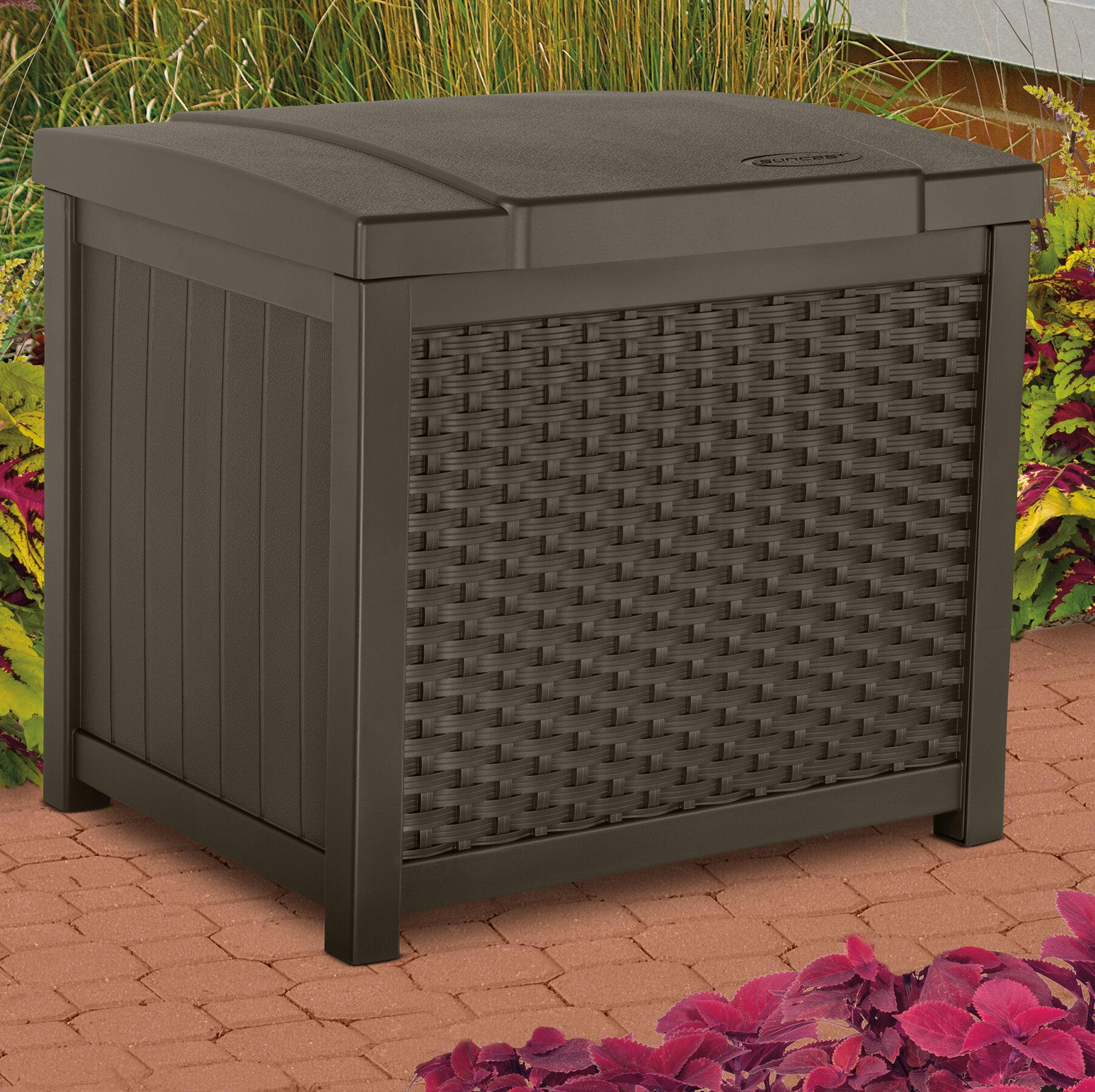 Suncast 22 Gallon Resin Deck Box Reviews Wayfair