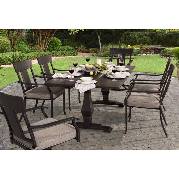 Dionne 7 Piece Dining Set with Cushions by 17 Stories