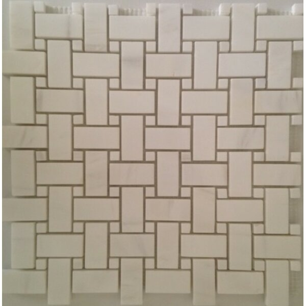 Mosaic Tile in Bianco Dolomite by Ephesus Stones