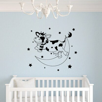 Lolita The Cow Jumps Over the Moon Wall Decal by Zoomie Kids