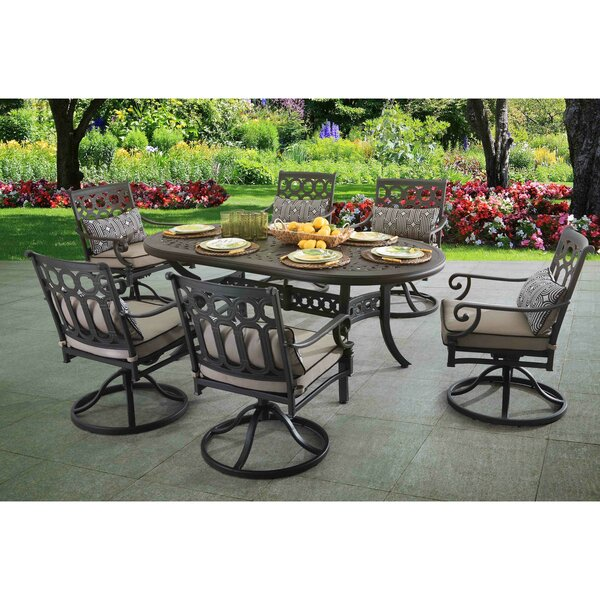 Derry 7 Piece Dining Set with Cushions by Darby Home Co
