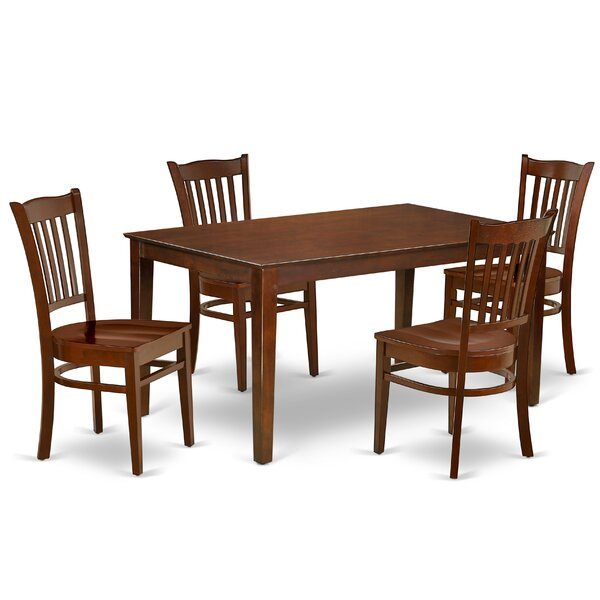Lourdes 5 Piece Solid Wood Dining Set By Alcott Hill