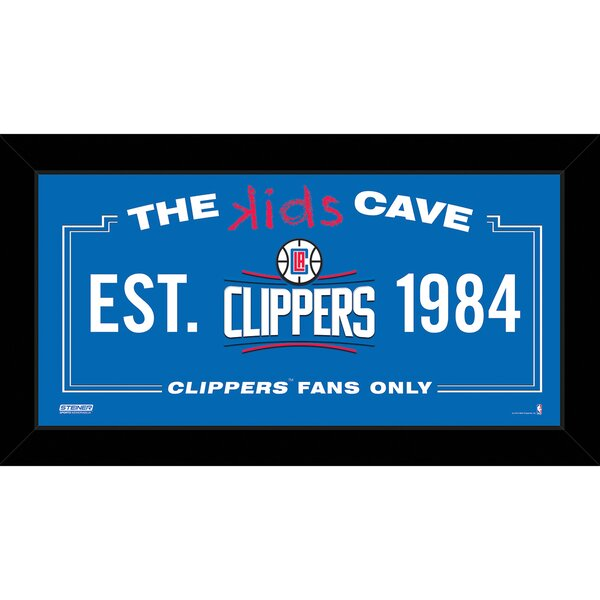 Kids Cave Framed Textual Art by Steiner Sports