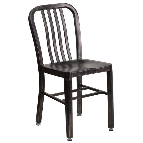 Phineas Metal Slat Back Side Chair By Latitude Run