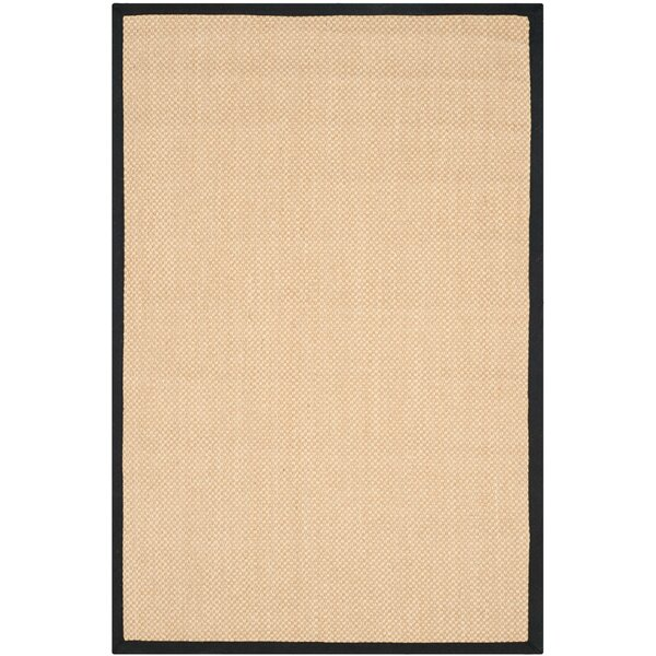 Hillsborough Maize / Black Area Rug by Breakwater Bay