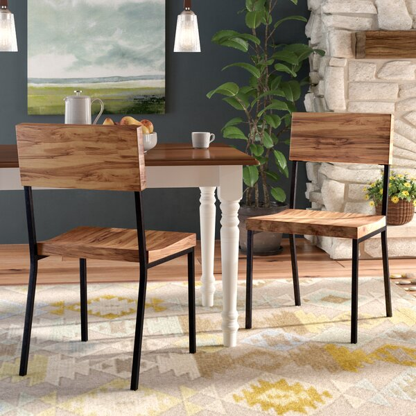 Bagnell Solid Wood Dining Chair (Set of 2) by Greyleigh