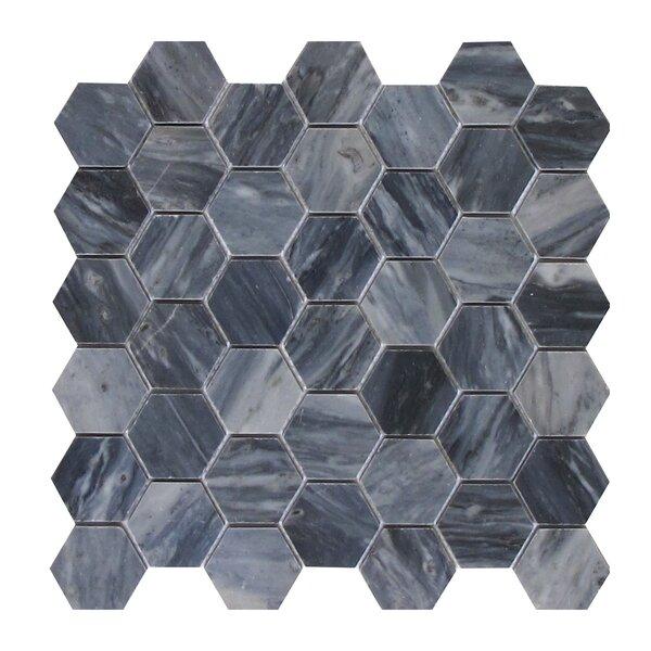Bardiglio 2 x 2 Marble Mosaic Tile in Dark Gray by Seven Seas