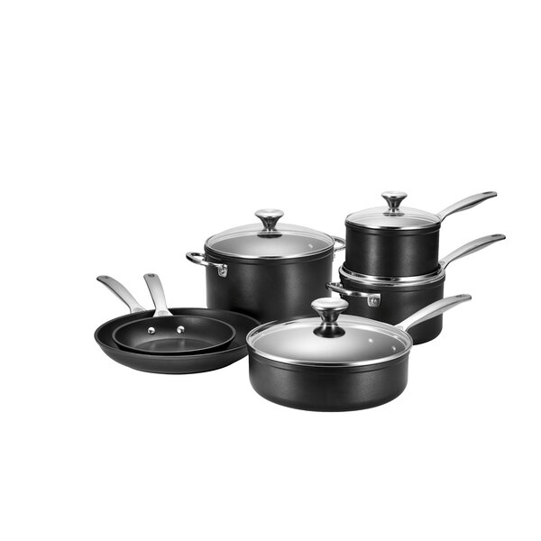 10 Piece Toughened Non Stick Cookware Set by Le Creuset