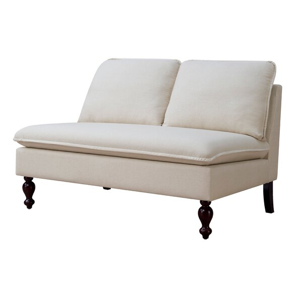 Parkes Contemporary Settee by Alcott Hill