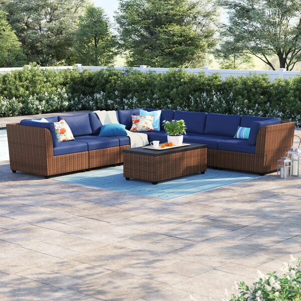 Waterbury 8 Piece Rattan Sectional Set with Cushions by Sol 72 Outdoor