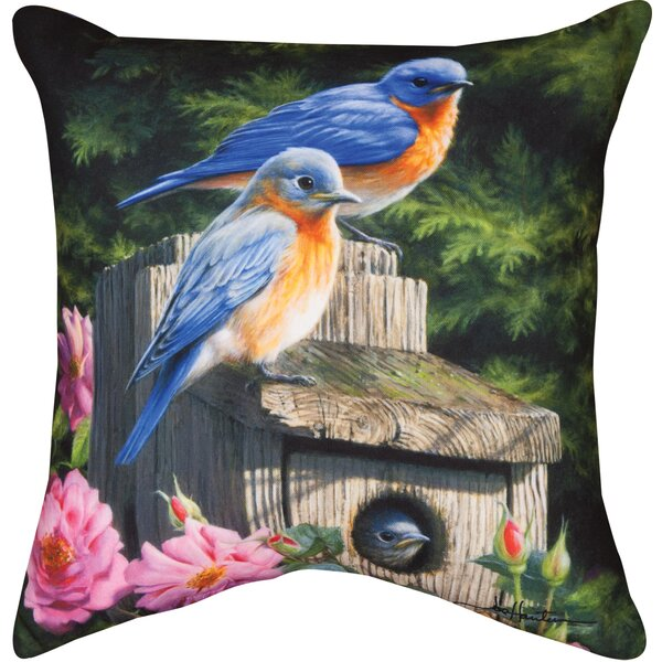 Birdhouse Throw Pillow by Manual Woodworkers & Weavers