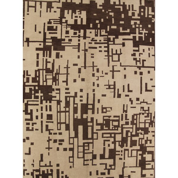 Bovill Agra Oriental Hand-Tufted Wool Brown Area Rug by Canora Grey