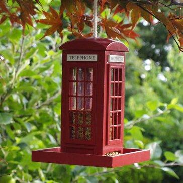 Telephone Booth Bird Feeder by Home Bazaar